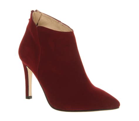 womens poste catherine shoe boot burgundy suede
