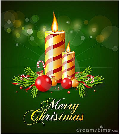 merry christmas greeting card  candles royalty  stock image image