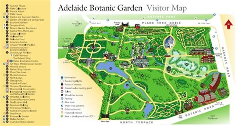 visitor pattern map adelaide s historic botanic gardens just a little further