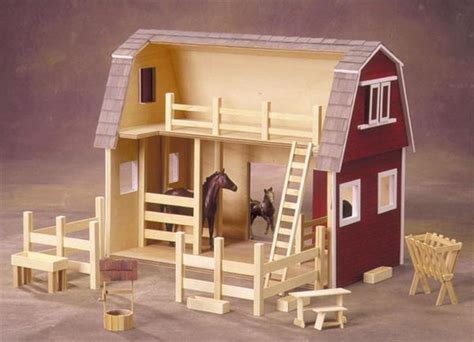 ruff  rustic  american barn dollhouse kit