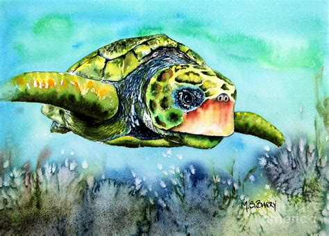 green turtle painting by barry