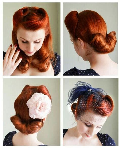 Vintage Wedding Hair Tutorial by 50s Style Hair Updos Www Pixshark Images Galleries