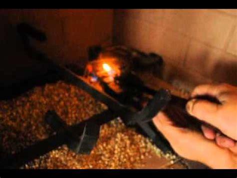 manually lighting a gas fireplace the gas velocity seems