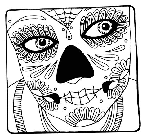 Yucca Flats N M Wenchkin S Coloring Pages Woman S Face Girly Sugar Skull Coloring Pages