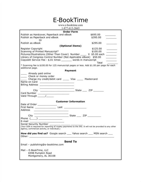 excel order form template 18 free excel documents download