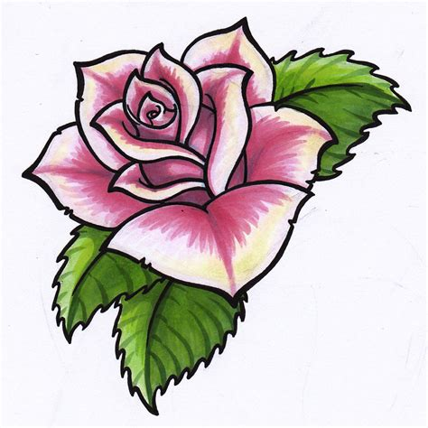 rose art tattoo tattoos pink roses