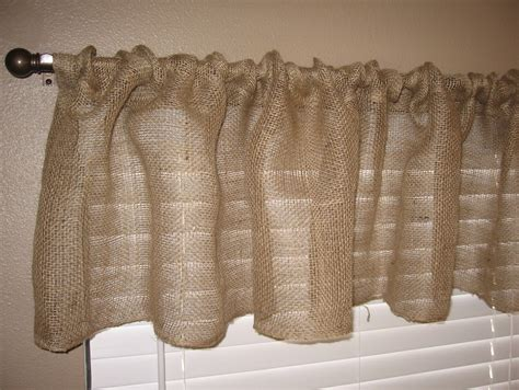images of burlap curtains one hour burlap kitchen curtain tutorial graceful little