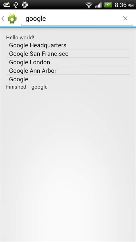 Search For An Address By Name Android Er Search Address By Name With Geocoder With Search Dialog