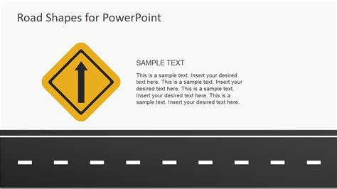 road template road shapes for powerpoint presentations slidemodel