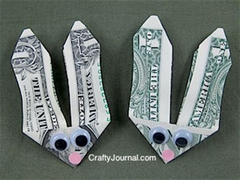Origami Money Bunny - easter craft bunny money cafemom