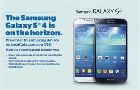 Us Cellular Lookup Us Cellular Hosting Galaxy S4 Pre Orders On April 16 Droid