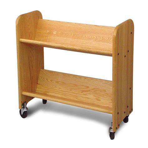 catskill craftsmen rol rack 2 shelf mobile bookcase 3322