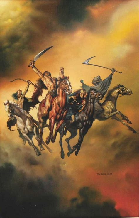 four horsemen of the apocalypse tattoo boris vallejo the four horsemen of the apocalypse the