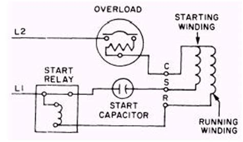 capacitor start run motor wiring diagram single phase hermetic motors