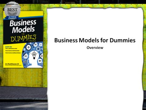 Business Models For Dummies business models for dummies overview business model