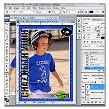 photoshop elements baseball card template new photoshop tutorial on customizing the sports trading