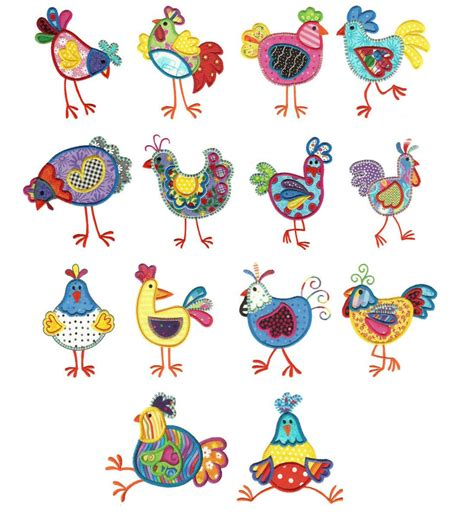 applique patterns chickens applique machine embroidery designs designs by juju