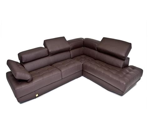 full grain leather sectional dreamfurniture com principe made in italy brown full