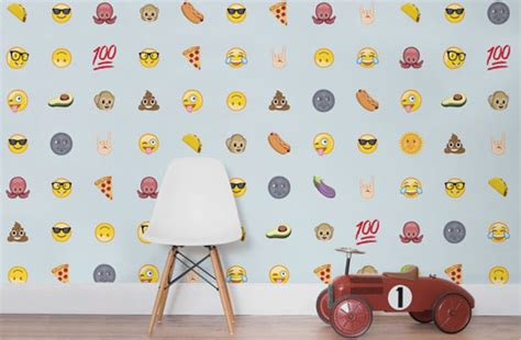 emoji wallpaper walls emoji wall coverings by murals wallpaper