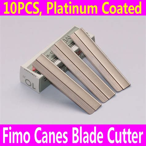Fimo Blade 10pcs razor blade fimo polymer clay canes rods cutter for 3d nail decorations fruit sticks jpg