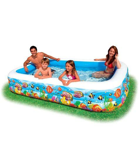 New Kolam Intex Swim Cwnter Family intex swim center tropical reef family pool buy at best price on snapdeal