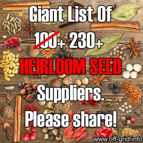 best heirloom seeds list of 230 heirloom seed suppliers with links