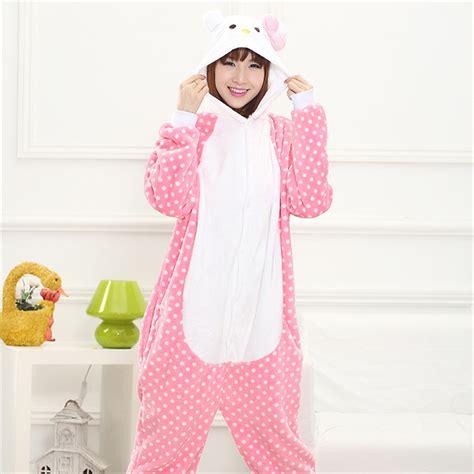 aliexpress buy pink stitch kt cat pajama sleepwear pajamas for animal