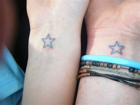 matching star tattoos for couples 24 best friends wrist designs