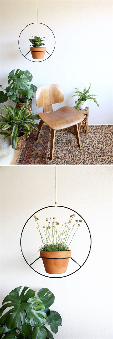 modern hanging planters these hanging planters are designed to put a distinct focus on your plants contemporist