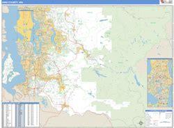 king county zip code map king county wa zip code wall map basic style by marketmaps