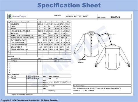 design for manufacturing worksheet 8 best apparel spec sheets images on pinterest