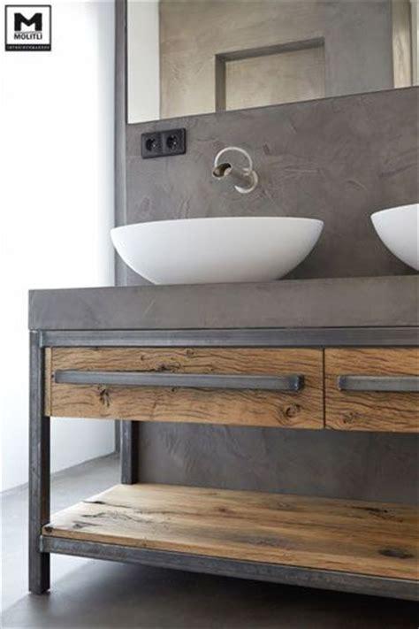 badkamermeubel hout en staal 25 beste idee 235 n over staal op pinterest stalen meubelen