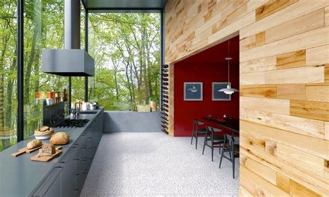 Raumteiler Aus Holz Im Esszimmer Craftwand Design A Kitchen