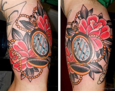 tattoo flower clock clock tattoos tattoo designs tattoo pictures page 22
