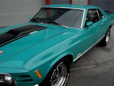1970 ford mustang mach 1 sportsroof for sale~grabber green