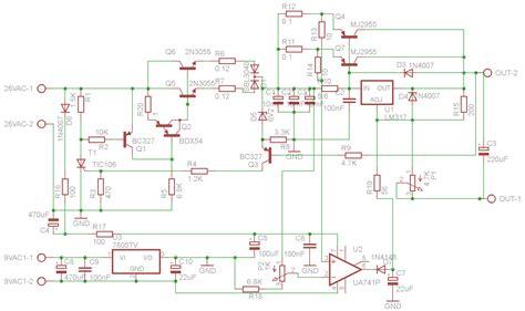 progetto alimentatore stabilizzato schema alimentatore variabile da laboratorio fare di una