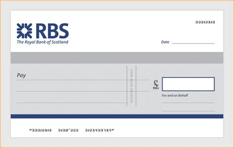 blank cheque template uk order large single use bank presentation cheques