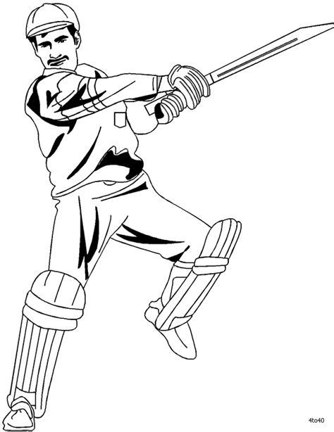 coloring pages cricket bat cricket bat coloring pages
