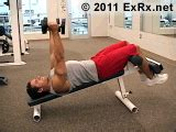 decline bench triceps extension dumbbell decline triceps extension