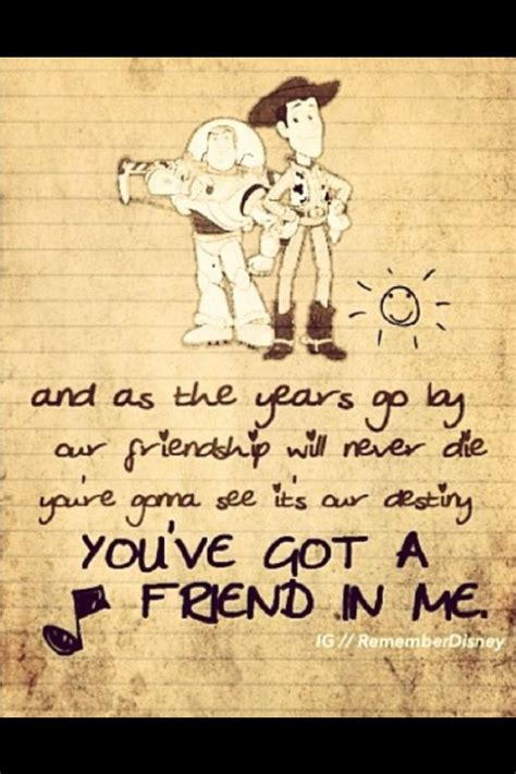 Quotes About And Friendship Disney Quotes About Friendship Quotesgram