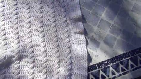 uncinetto copertine tutorial uncinetto copertina neonato punto treccia