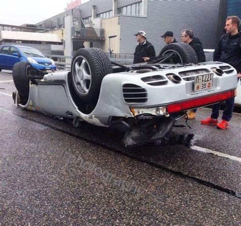 swiss porsche 959 crushed in rollover