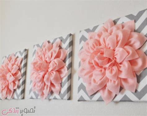 how to make wall decoration at home ساخت قاب تزیینی با گل نمدی دیوار کوب سه بعدی
