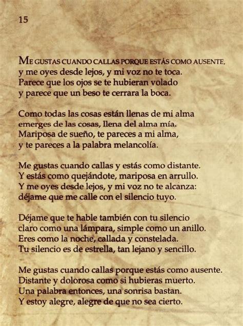 30 best poemas images on pinterest spanish quotes i love you and poema 15 20 poemas de amor y una canci 243 n desesperada
