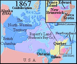 map of canada in 1867 confederation of canada 1867