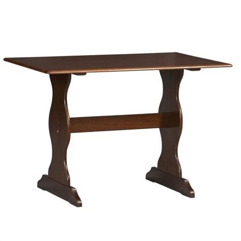 Dining Table For Kitchen Nook Linon Chelsea Kitchen Nook Walnut Dining Table Ebay