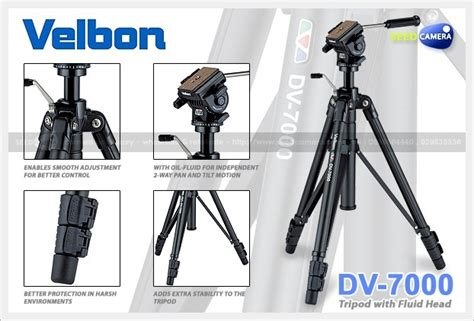 Tripod Velbon Dv 7000 velbon dv 7000 tripod with fluid tripod seedcamera
