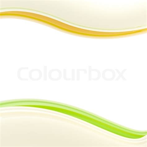 wavy green and orange glossy bright design template