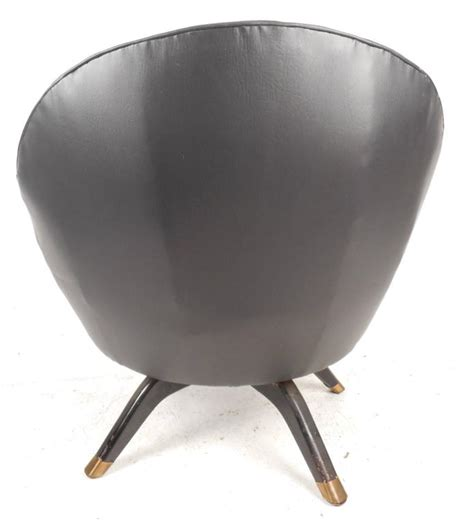 Mid Century Modern Overman Style Swivel Pod Chair For Sale Swivel Pod Chair