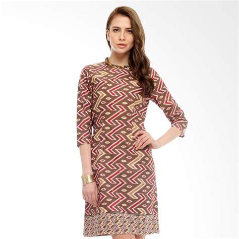 Dress Batik Wanita 1 Batik Kerja 20 model baju batik kerja wanita kombinasi modern terbaru